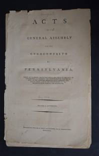 Acts of the Pa. General Assembly 1793