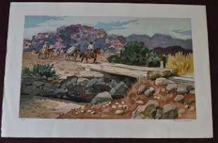 Frederic Whitaker Sgd. Western Scene