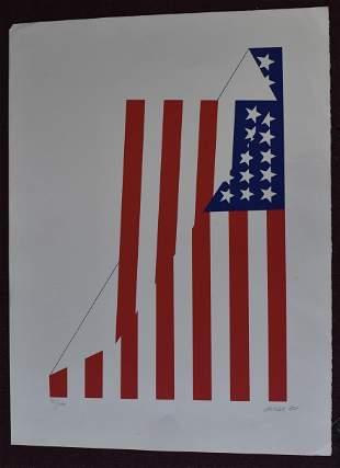 Flag Litho Sgd. Jacobs '80
