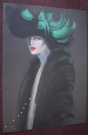 Victoria Montesinos Portrait Litho Sgd.