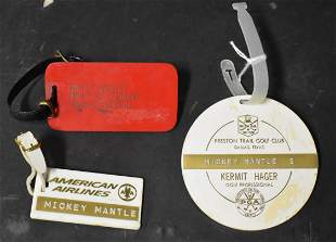 Mickey Mantle Luggage Tags (3)