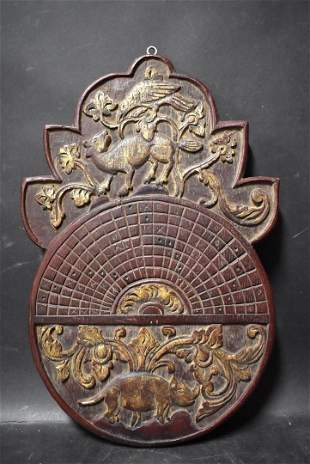 Carved & Gilded Chinese Navigation Board