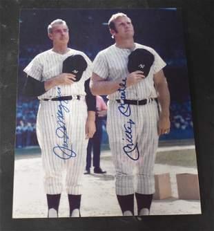 DiMaggio & Mantle Autograph w/ COA