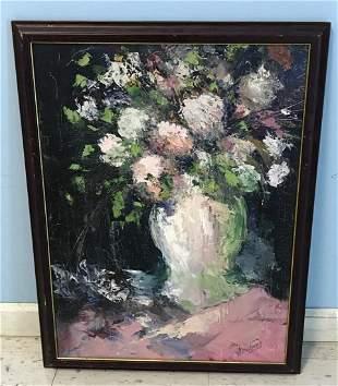 Flower Still Life on Canvas Sgd. Armstrong