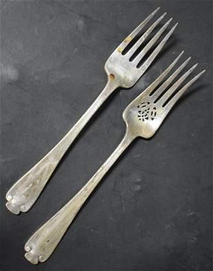 Tiffany Sterling Silver Serving Forks (2)