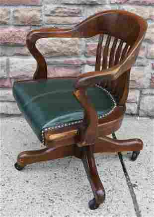 Antique 1920's Leather Seat