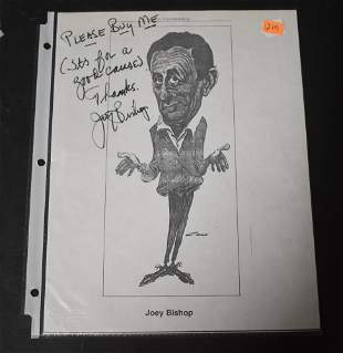 Joey Bishop Autograph