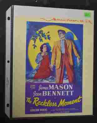 James Mason Autograph