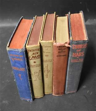 Edgar Rice Burroughs Books, 1st Eds. (5)