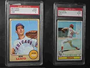 Topps Ron Santo & Tom Seaver Graded Cards