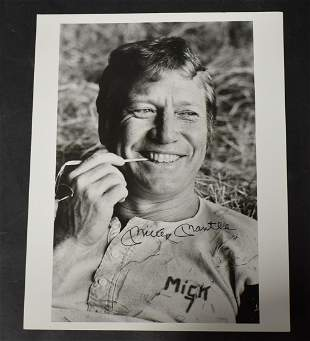Signed Mickey Mantle Photo