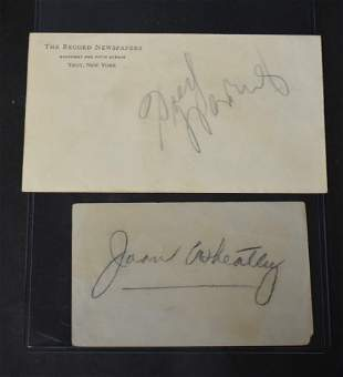 Autographs Fred Waring and Jane Wheatley