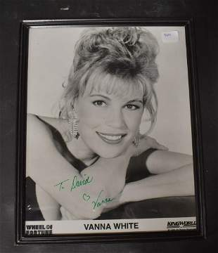Signed Vanna White Photo