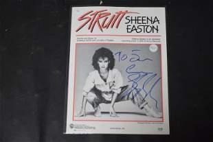 Sheena Easton Autographed Sheet Music