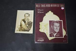 Vaughn Monroe Autographed Photo with Sheet Music