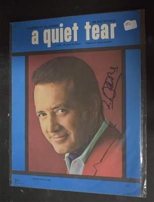 Vic Damone Autographed Sheet Music