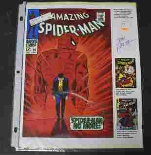 Autographed John Romita Amazing SpiderMan Promo