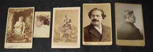 Cabinet Cards Collectors Photo Lot (5)