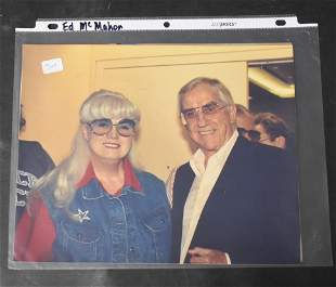 Bunny Yeager Photo with Ed McMahon and a Second