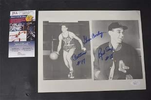 Gene Conley Dual Photo, Celtics & Red Sox, Sgd. COA
