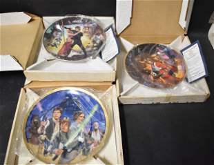 Collectible Star Wars Plates (3)