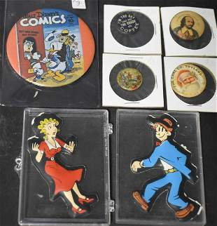 Collector's Lot of Pinbacks and Magnets (7)