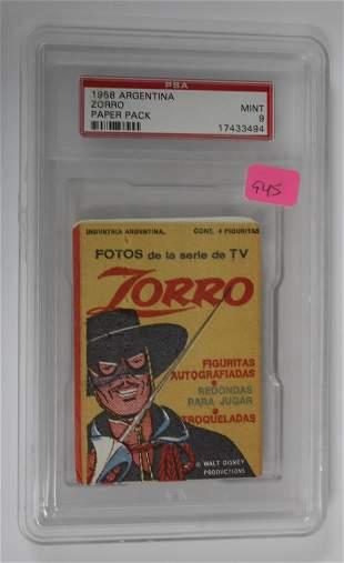 1958 Argentina Zorro Paper Pack
