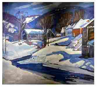 Aldro T. Hibbard(1886-1972); American Oil Morning Snow