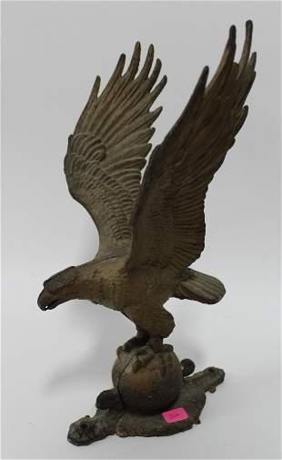 Cast Iron Eagle Figure. Mountable.