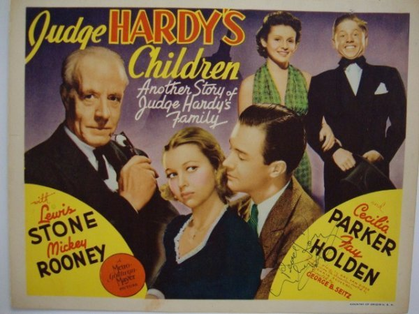 SIGNED MICKEY ROONEY TITLE CARD
