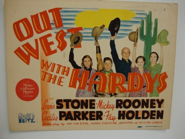 OUTWEST WITH THE HARDY'S MOVIE CARDS
