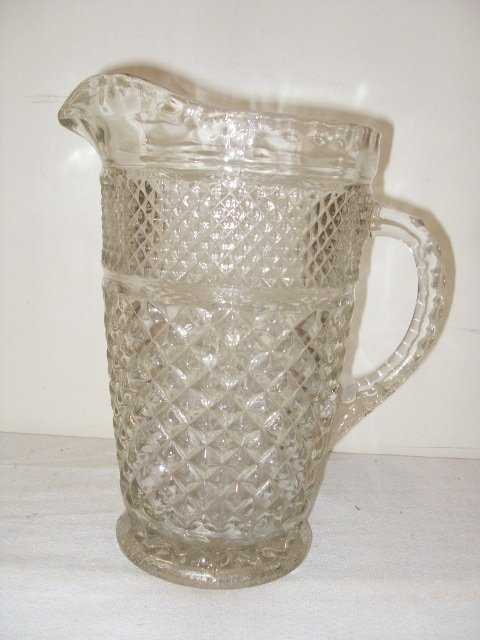 7: PATTERN GLASS WATER PITCHER