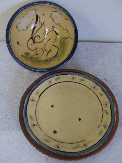 9: FRENCH POTTERY PIECES (2)