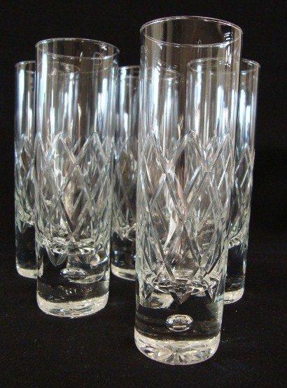 23: FIVE MURANO HAND BLOWN GLASSES