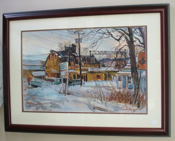 348: LEE W. HUGHES; WATERCOLOR PAINTING SIGNED