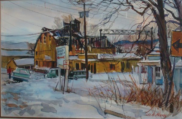 348: LEE W. HUGHES; WATERCOLOR PAINTING SIGNED - 2