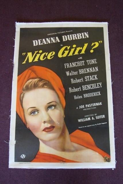 5: NICE GIRL? DEANNA DURBIN MOVIE POSTER