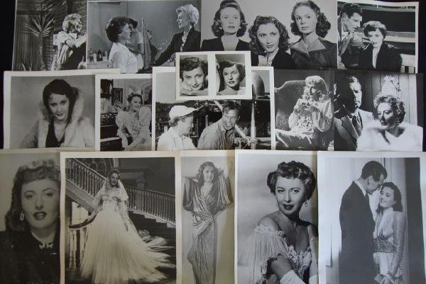 7: APPROX. 85 STANWYCK, LOY, COOPER MOVIE STILLS