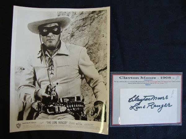24: THE LONE RANGER, CLAYTON MOORE PHOTO & AUTOGRAPH
