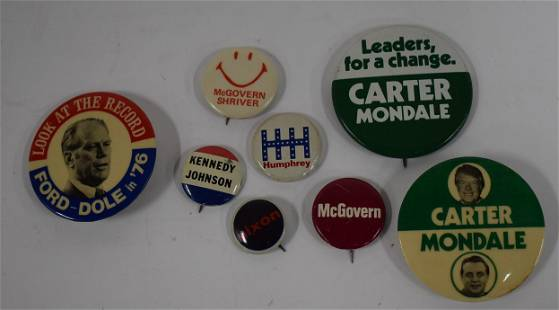 Collector's Lot of Presidential Campaign Buttons (8)