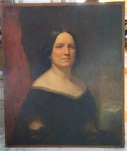 Samuel B. Morse. Mary Todd Lincoln 19th C.Oil Attr. to
