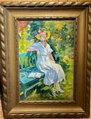 Lawton Parker; American Oil A Midsummer's Day Signed