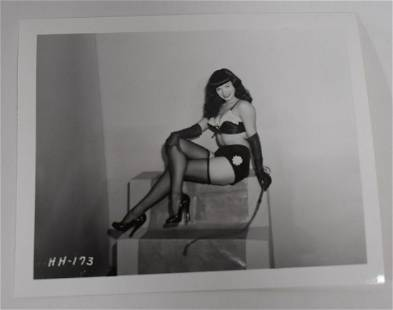Irving Klaw Bettie Page Photo