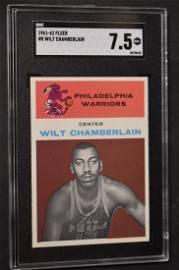 1961-62 Fleer Wilt Chamberlain Graded Card.