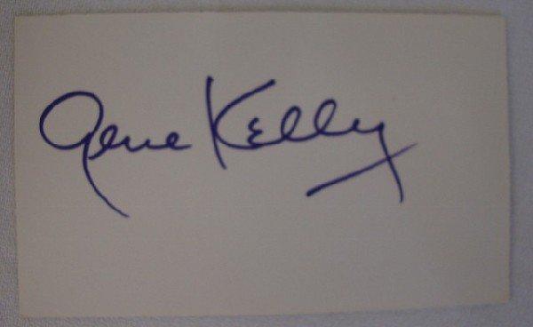 141: GENE KELLY AUTOGRAPH