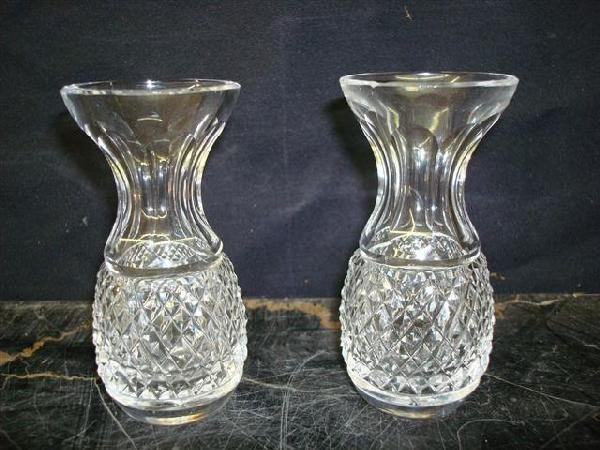 11: PAIR OF WATERFORD CRYSTAL VASES
