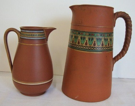 12A: TWO(2) ENGLISH POTTERY PITCHERS