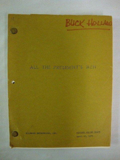 18: BUCK HOLLAND SCRIPT ALL THE PRESIDENT'S MEN