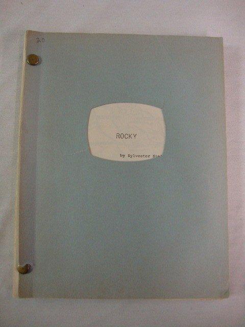 20: ROCKY SYLVESTER STALLONE ORIGINAL SCRIPT
