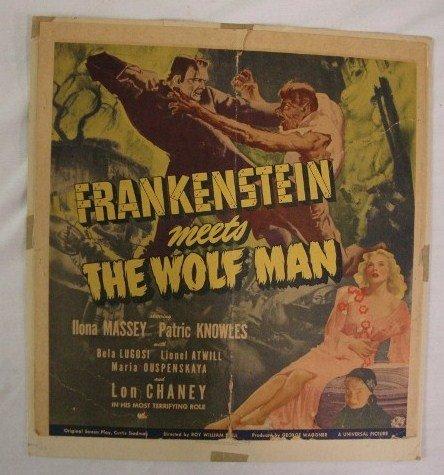 149: FRANKENSTEIN MEETS THE WOLF MAN POSTER